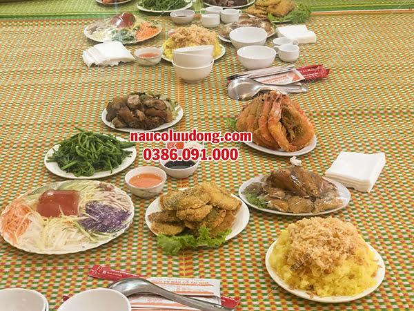 Đặt Nấu Cỗ Tại Nhà Ở Hoàng Quốc Việt 0386091000 Phục Vụ 3 Mâm Cỗ Tại Nhà Chị Hoa